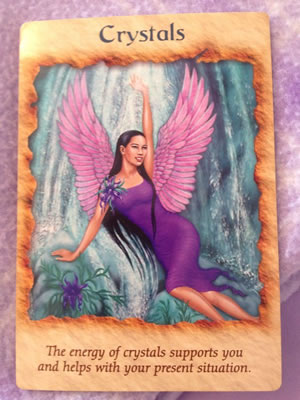 Angel Card for June - Crystals